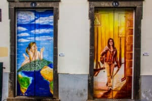 Amazing Door Painting  – Funchal, Madeira, Portugal