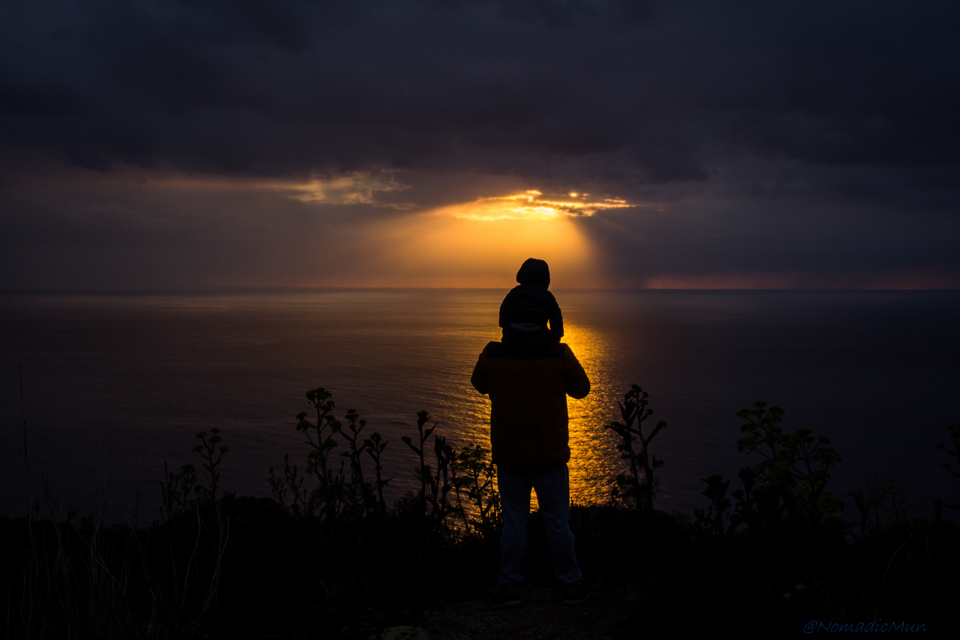 sunset at dingli cliff