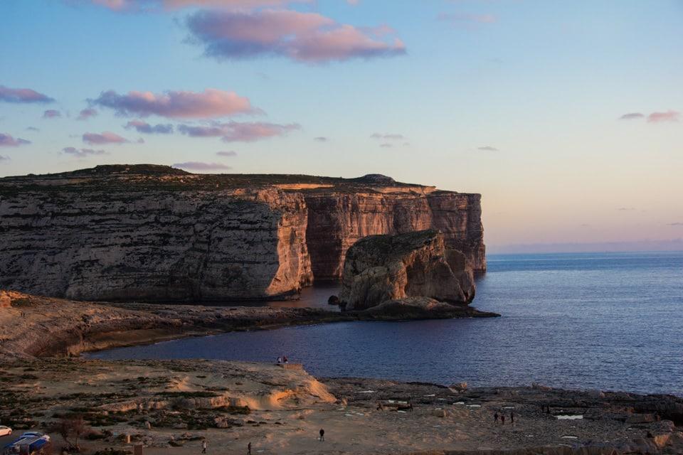 fungus rock in gozo - malta travel guide
