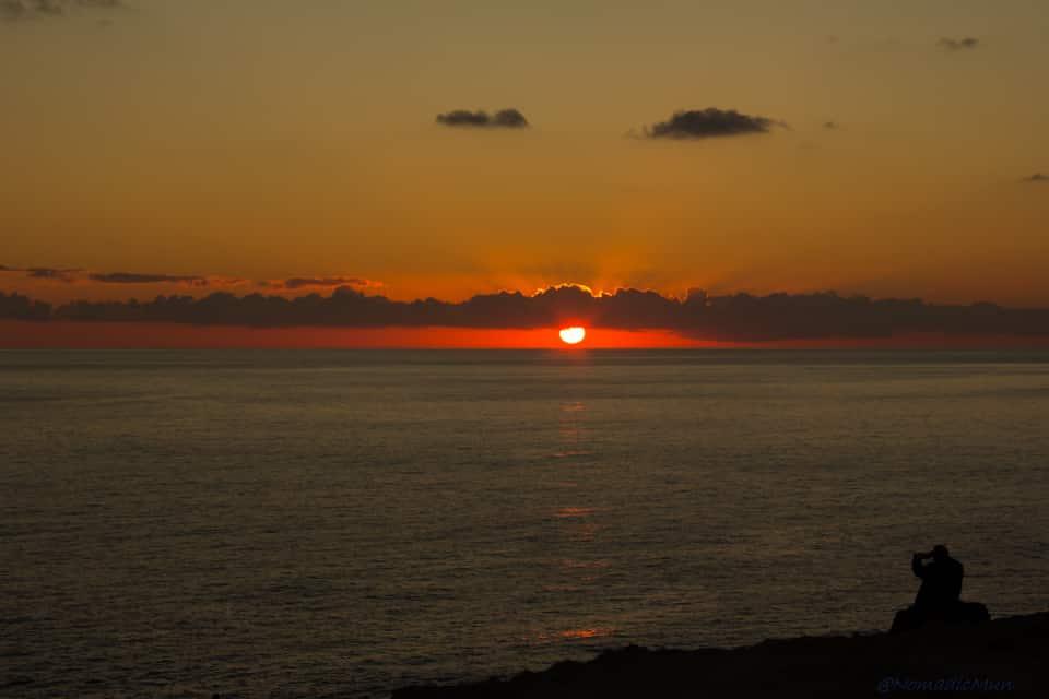 Sunset in Dwerja , Gozo - malta travel guide