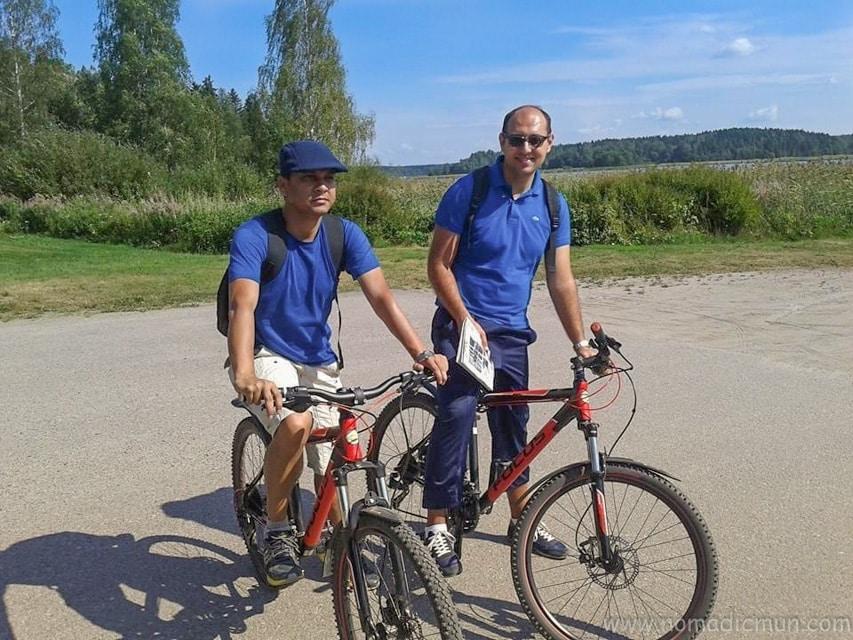 biking in Porvoo old town