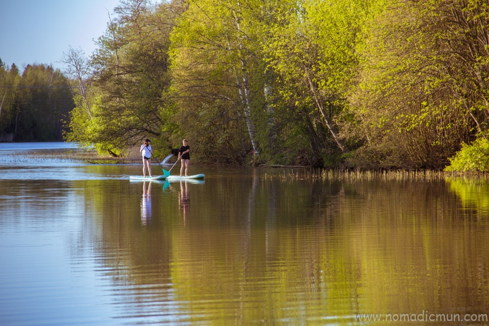 Stand up paddling in Porvoo