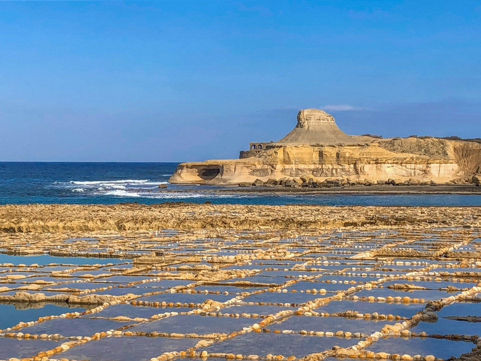 saltpan in gozo - malta travel guide