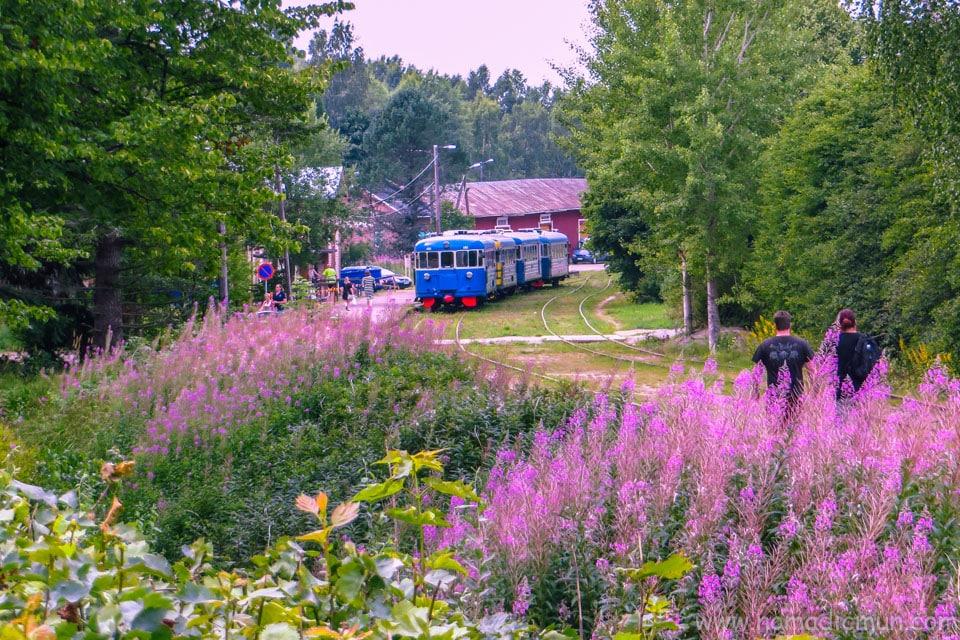 Tourist train in Porvoo