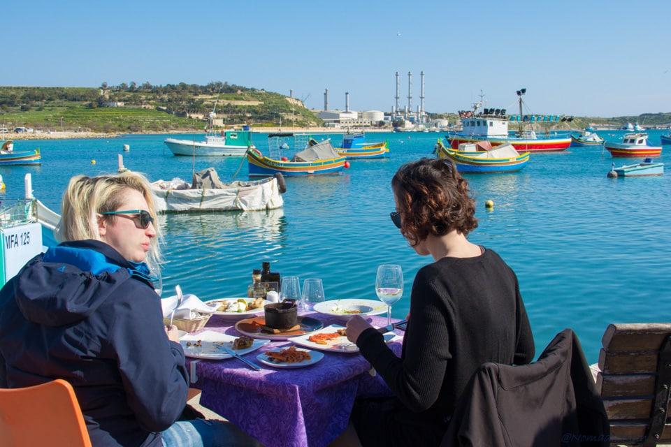 Seaside Restaurant in Marsaxlokk, Malta Travel