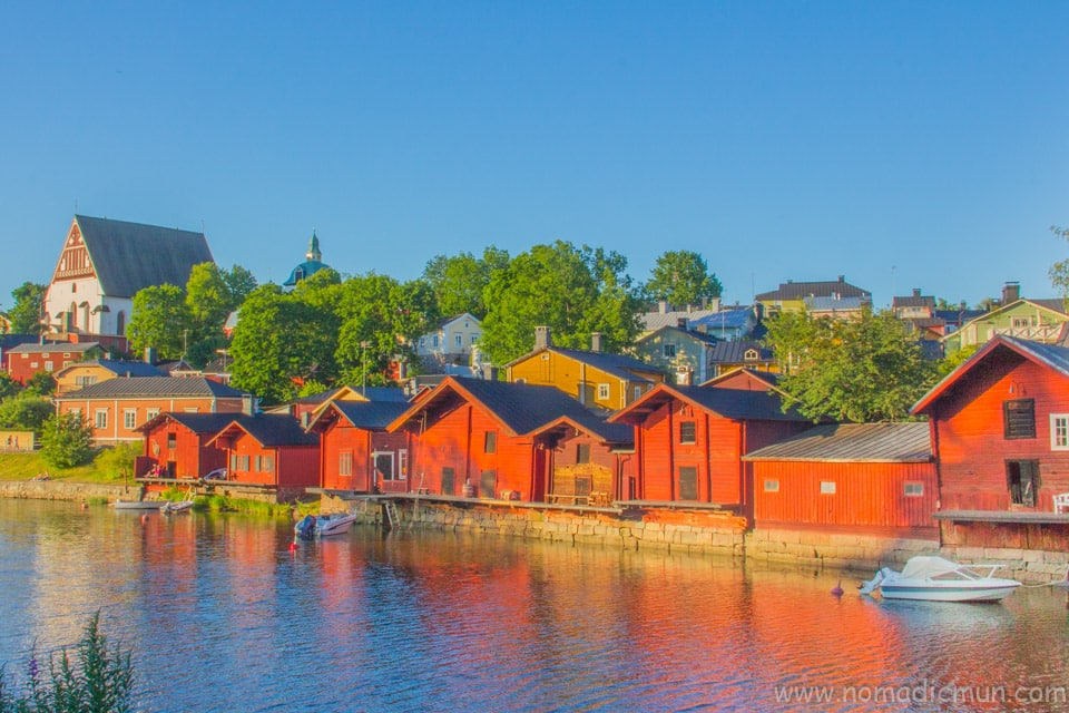 Red house in porvoo