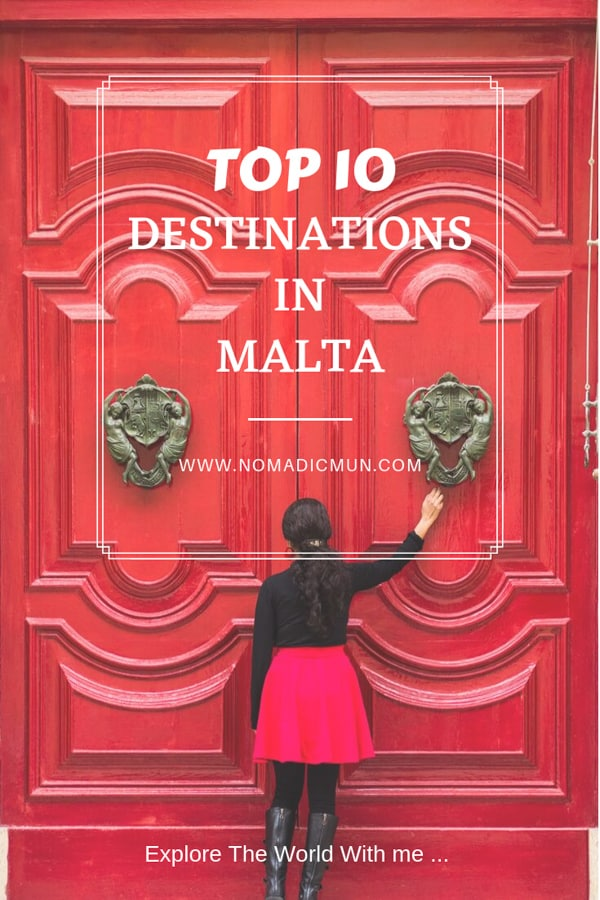 Top 10 destinations malta