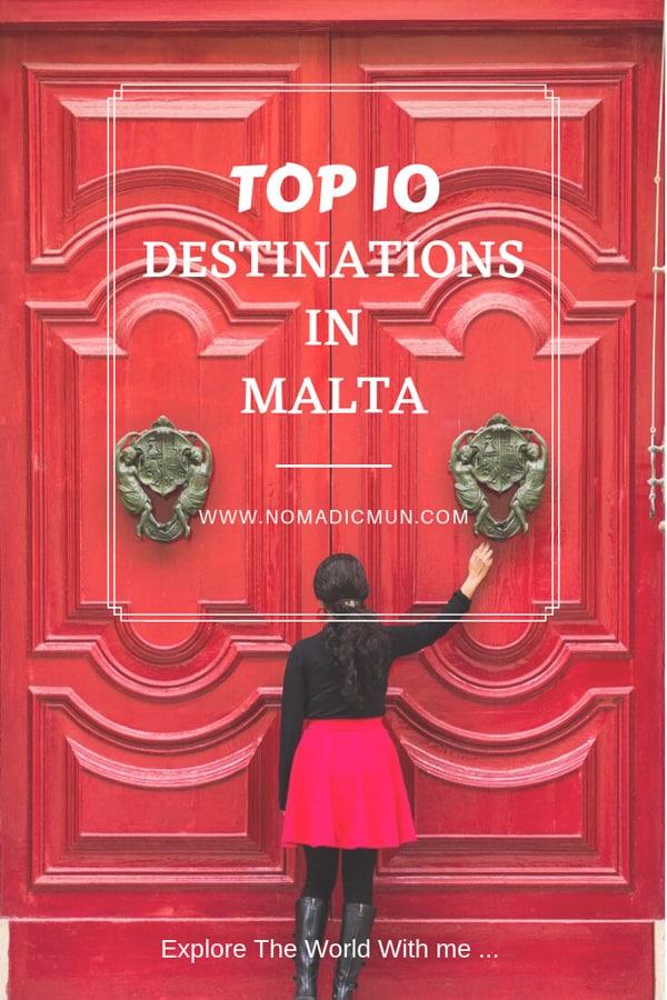 Top 10 destinations malta