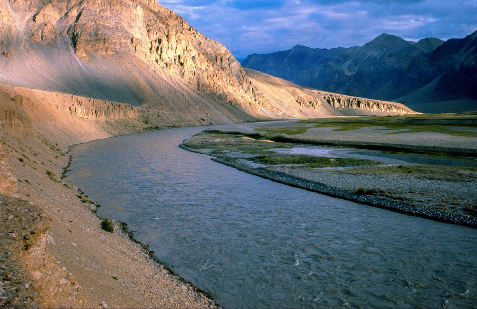 Zansker river in Ladakh