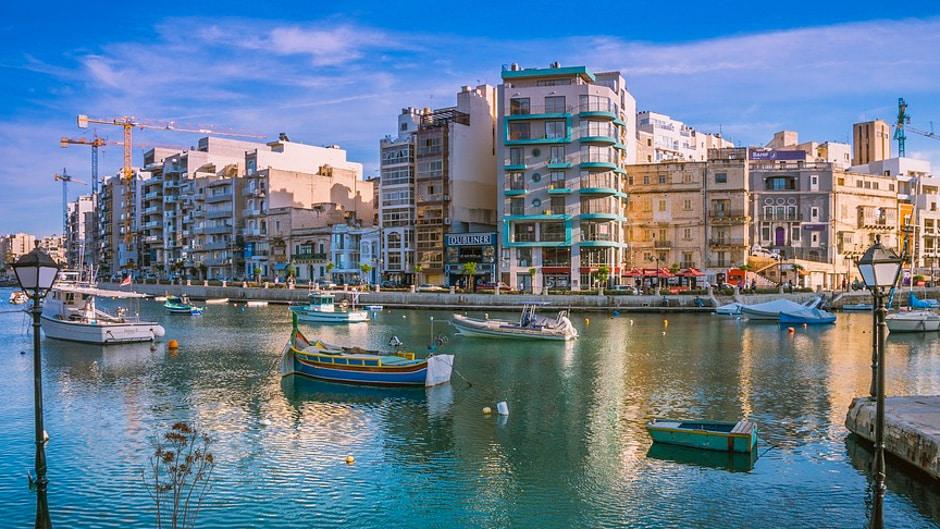 St. Julian's Bay in Malta - malta travel guide