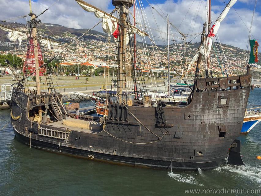 Santa Maria de Colombo replica of the Christopher Columbus flagship