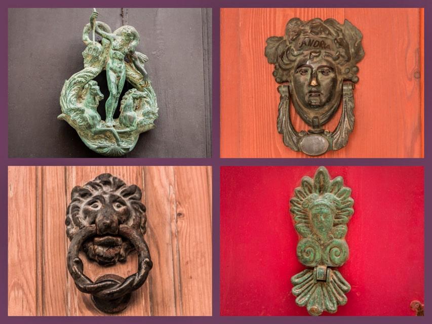 Door handle design in Mdina
