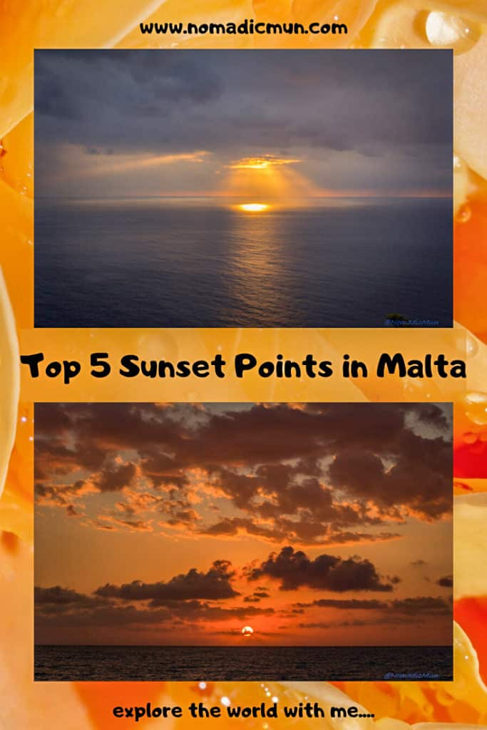 Malta Sunset for Pinterest