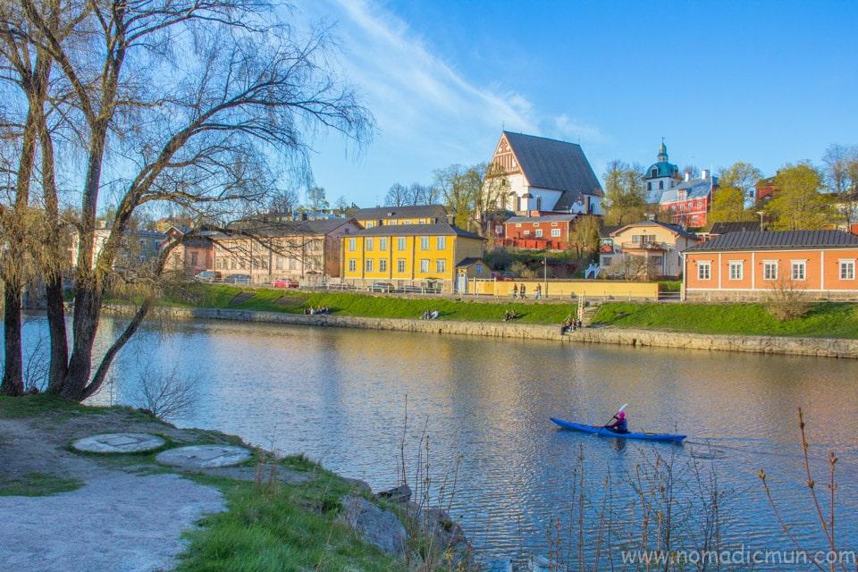 kayaking in porvoonjoki