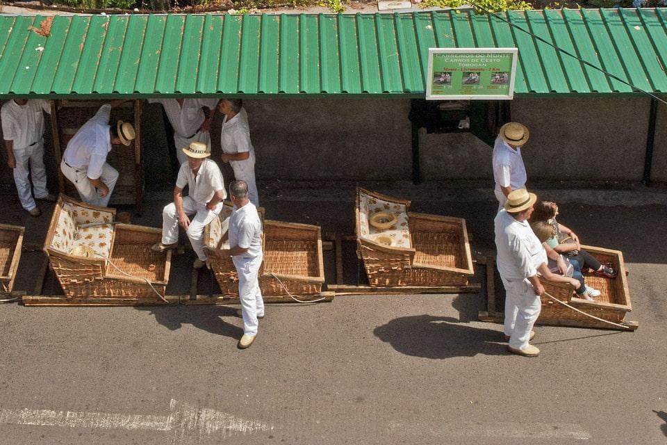 Monte toboggan ride madeira