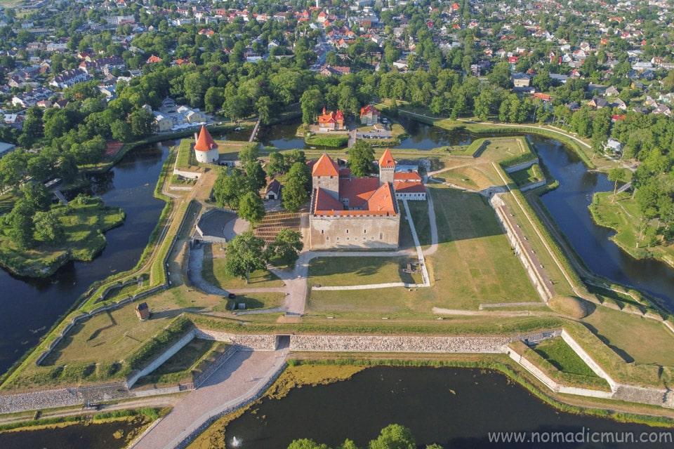 Kuressaare castle from above
