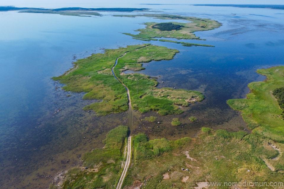 Hiking trail to Vilsandi saaremaa estonia