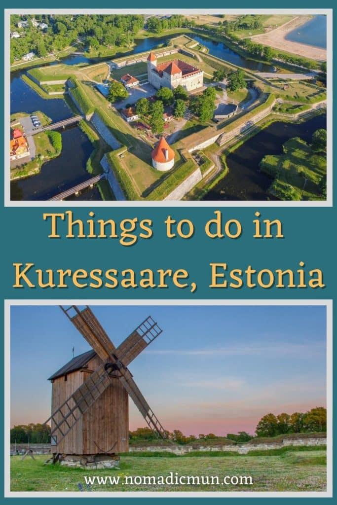 Things to do in Kuressaare saaremaa