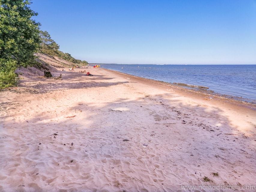 Mändjala beach saaremaa estonia